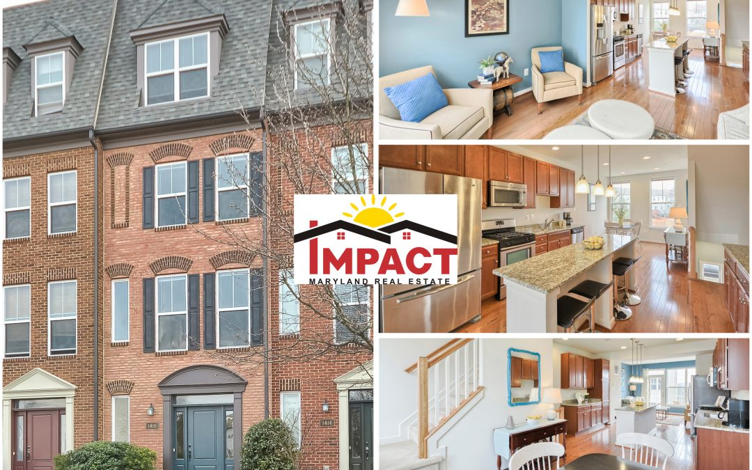 Garage Townhouse with Unique 4-Level Living in A Great Location Just Outside of Historic Downtown Frederick…(FOR SALE)