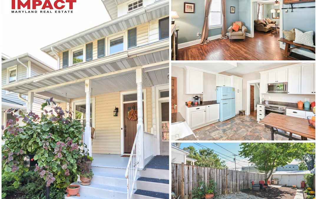Unique Home in Historic Frederick – Must See. $289,900 (Sold)